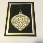 black and gold ornament card