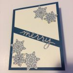 merry snowflake card
