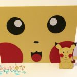 Pikachu Face Card and matching little guy